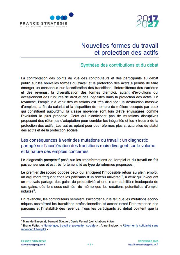 95c47481637 La protection sociale des indépendants - L Observatoire du Travail ...